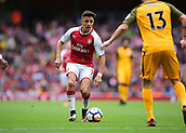 1st October 2017, Emirates Stadium, London, England; EPL Premier League Football, Arsenal versus Brighton; Alexis Sanchez of Arsenal brings the ball into the Brighton area