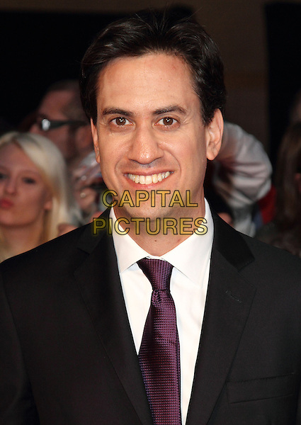 Ed Miliband<br /> The Daily Mirror's Pride of Britain Awards arrivals at the Grosvenor House Hotel, London, England.<br /> 7th October 2013<br /> headshot portrait black white maroon tie suit <br /> CAP/ROS<br /> &copy;Steve Ross/Capital Pictures