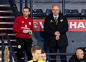 23rd March 2018, Hampden Park, Glasgow, Scotland; International Football Friendly, Scotland versus Costa Rica; Alex McLeish Scotland manager and James McFadden watch from the stand