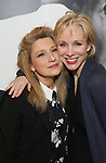Liz Larsen and Charlotte d'Ambroise attend the Broadway Opening Night Performance of 'Present Laughter' at St. James Theatreon April 5, 2017 in New York City