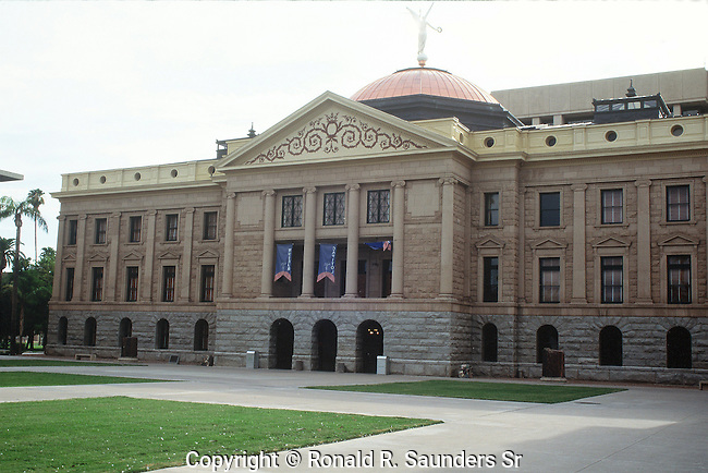 ARIZONA STATE CAPITOL BUILDING.<br />