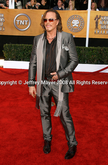 LOS ANGELES, CA. - January 25: Actor Mickey Rourke arrives at the 15th Annual Screen Actors Guild Awards held at the Shrine Auditorium on January 25, 2009 in Los Angeles, California.