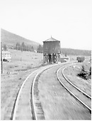 D&amp;RGW water tank at Marshall Pass summit.  Photo taken from passing westbound train.<br /> D&amp;RGW  Marshall Pass, CO  Taken by Rogers, Donald E. A. - ca. 1939