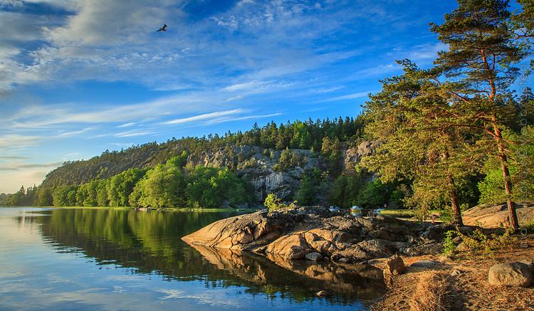 Klövbergets naturreservat vid Kalvfjärden i Tyresö
