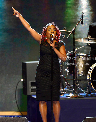 Singer / songwriter Ledisi performs at the 2012 Democratic National Convention in Charlotte, North Carolina on Tuesday, September 4, 2012.  .Credit: Ron Sachs / CNP.(RESTRICTION: NO New York or New Jersey Newspapers or newspapers within a 75 mile radius of New York City)
