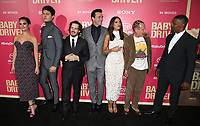 "14 June 2017 - Los Angeles, California - Lily James, Ansel Elgort, Edgar Wright, Jon Hamm, Eiza Gonzalez, Flea, Jaime Foxx.""Baby Driver"" Los Angeles Premiere held at the Ace Hotel. Photo Credit: F. Sadou/AdMedia"