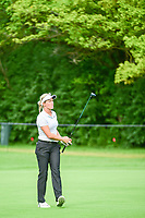 Suzann Pettersen (NOR) watches her approach shot on 1 during Friday's round 2 of the 2017 KPMG Women's PGA Championship, at Olympia Fields Country Club, Olympia Fields, Illinois. 6/30/2017.<br /> Picture: Golffile | Ken Murray<br /> <br /> <br /> All photo usage must carry mandatory copyright credit (&copy; Golffile | Ken Murray)