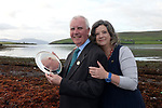 30-9-2016: Food writers John and Sally McKenna from West Cork were recipients of the 2016 Blas na h-Eireann Food Producer Hero Award for their contribution to the industry in Dingle on Friday. The couple have been producing food guides for the hospitality industry for over 30 years.<br /> Photo: Don MacMonagle<br /> <br /> PR PHOTO REPRO FREE BLAS NA H-EIREANN