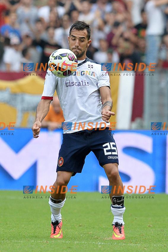 Marco Sau Cagliari.<br /> Roma 21-09-2014 Stadio Olimpico. Football Calcio 2014/2015 Serie A. AS Roma - Cagliari. Foto Antonietta Baldassarre / Insidefoto