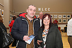 John Lawless and Bridget O'Brien at the Opening of the Mid Louth Camera Club Landscape and Wildlife Photography Exhibition in St.Peters Church of Ireland...(Photo credit should read Jenny Matthews/NEWSFILE)...
