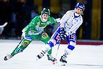 Stockholm 2013-02-10 Bandy Elitserien , Hammarby IF - IFK Vänersborg :  .Vänersborg 14 Henric Eriksson och Hammarby 16 Fredrik Rydberg  i aktion.(Byline: Foto: Kenta Jönsson) Nyckelord: