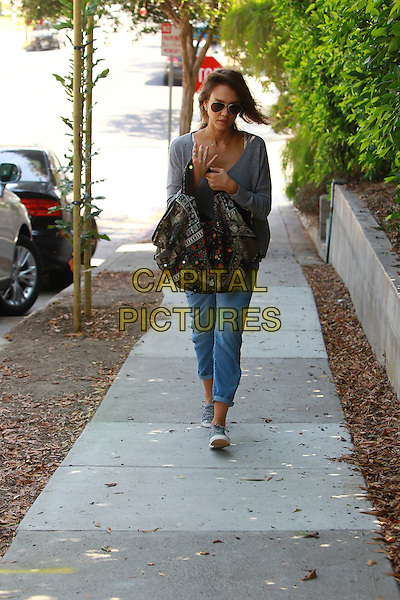 September 1 2014 Malibu California Jessica Alba walking to a friends house in Malibu  <br /> CAP/MPI/Misa<br /> &copy;Misa/MPI/Capital Pictures