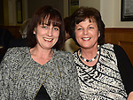 Laura Conlon and Deirdre McMahon pictured at St mary's GFC Ardee awards night. Photo:Colin Bell/pressphotos.ie