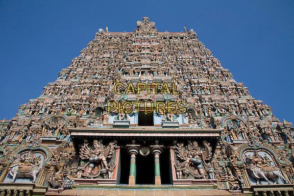 A gopuram, Meenakshi Temple, Madurai, Tamil Nadu, India