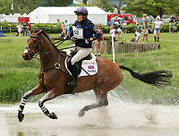 LEXINGTON, KY - April 29, 2017. #52 High Kingdom and Zara Tindall finish 3rd after completeing the Cross Country Course at the Rolex Three Day Event at the Kentucky Horse Park.  Lexington, Kentucky. (Photo by Candice Chavez/Eclipse Sportswire/Getty Images)