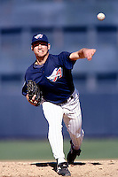 Mike Holtz of the Anaheim Angels participates in a Major League Baseball Spring Training game during the 1998 season in Phoenix, Arizona. (Larry Goren/Four Seam Images)