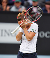 21-06-13, Netherlands, Rosmalen,  Autotron, Tennis, Topshelf Open 2013, , Simona Halep is emotional after she defeated Suarez Navarro for a place in the final<br /> <br /> Photo: Henk Koster