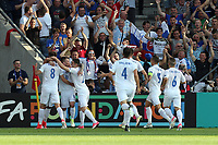 Martin Chrien (8) of Slovakia celebrates scoring the opening goal during Slovakia Under-21 vs England Under-21, UEFA European Under-21 Championship Football at The Kolporter Arena on 19th June 2017