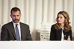 Spain's crown Prince Felipe de Borbon and Princess Letizia attend an award ceremony. October 31, 2012. (ALTERPHOTOS/Alvaro Hernandez)