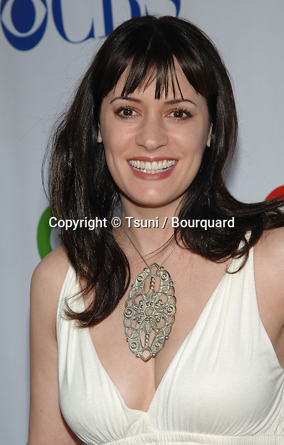 Paget Brewster  - <br /> CBS-CW and Showtime  - tca Summer Party 2008 at the Boulevard 3 Club In Los Angeles.<br /> <br /> <br /> headshot<br /> eye contact<br /> smile