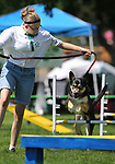 4-H member Morgan Craghill, of Carson City, and her dog Boris run the dog agility course at the Carson City Fair at Fuji Park on Tuesday, July 25, 2017. For more information about the fair, which run through Sunday, go to carsoncitynvfair.com.<br /> Photo by Cathleen Allison/Nevada Photo Source