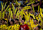 Borussia Dortmund supporters during the match against Manchester City FC for the 2016 International Champions Cup China match at the Shenzhen Stadium on 28 July 2016 in Shenzhen, China. Photo by Marcio Machado / Power Sport Images