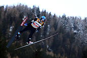 12th January 2018, Val di Fiemme, Fiemme Valley, Italy; FIS Nordic Combined World Cup, Mens Gundersen; Jan Schmid (NOR)