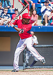 16 March 2014: Washington Nationals outfielder Eury Perez in action during a Spring Training Game against the Detroit Tigers at Space Coast Stadium in Viera, Florida. The Tigers edged out the Nationals 2-1 in Grapefruit League play. Mandatory Credit: Ed Wolfstein Photo *** RAW (NEF) Image File Available ***