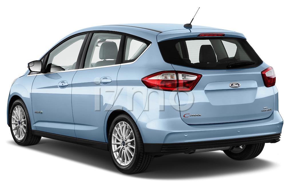 Rear three quarter view of 2013 Ford C Max Hybrid SEL Stock Photo