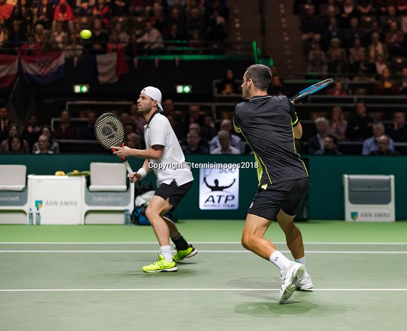 Rotterdam, The Netherlands, 18 Februari, 2018, ABNAMRO World Tennis Tournament, Ahoy, Doubles final, , Oliver Marach (AUT) / Mate Pavic (CRO)<br /> <br /> Photo: www.tennisimages.com