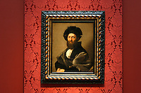 """""""Portrait of Baldassare Castiglione"""" by Raphael in the Anne Cox Chambers Wing of the High Museum of Art. Over the next three years, the High Museum will feature hundreds of works of art from the Musée de Louvre."""