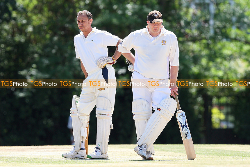 J Patient (R) and S Khan of GPR - Gidea Park & Romford CC 3rd XI vs Upminster CC 3rd XI - Essex Cricket League - 10/07/10 - MANDATORY CREDIT: Gavin Ellis/TGSPHOTO - Self billing applies where appropriate - Tel: 0845 094 6026