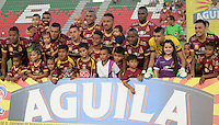 IBAGUE -COLOMBIA, 30-10-2016: Los jugadores del Deportes Tolima, posan para una foto durante partido por la fecha 18 de la Liga Aguila II 2016 entre Deportes Tolima y Deportivo Pasto,  jugado en el estadio Manuel Murillo Toro de la ciudad de Ibague. / Players of Deportes Tolima, pose for a picture during a match for the date 18 of the Aguila League II 2016, between Deportes Tolima and Deportivo Pasto,  played at Manuel Murillo Toro stadium in Ibague city. Photo: VizzorImage / Juan Carlos Escobar / Cont.