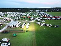 Daytona Speedway staging site  before 2019 Hurricane Dorian in Daytona, Fla. on August 31, 2019.