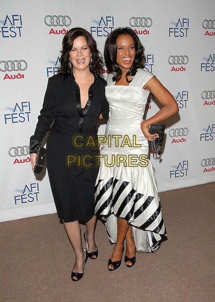 """MARCIA GAY HARDEN & KERRY WASHINGTON.Attends AFI Film Fest Screening of """"The Dead Girl"""" held at The Arclight Rooftop, The Loft, Hollywood, LA,.California, USA, November 07, 2006..full length black and white striped dress hand on hip.Ref: DVS.www.capitalpictures.com.sales@capitalpictures.com.©Debbie VanStory/Capital Pictures"""