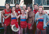 Team NBC after winning the Battle of the Network Stars, Pepperdine University, Pepperdine CA, November 1979. Photo by John G. Zimmerman.