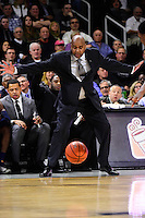 Wednesday, January 4, 2016: Georgetown Hoyas head coach John Thompson III works at the baseline during the NCAA basketball game between the Georgetown Hoyas and the Providence Friars held at the Dunkin Donuts Center, in Providence, Rhode Island. Providence defeats Georgetown 76-70 in regulation time. Eric Canha/CSM