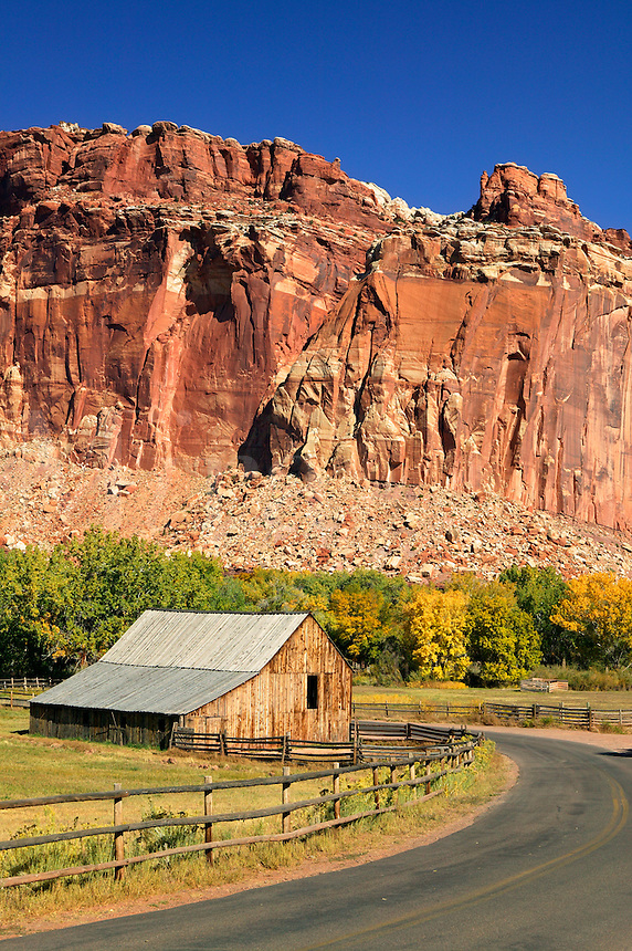 Historic barn in Fruita, Capital Reef National Park, Utah