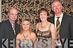 FAMILY NIGHT OUT: Attending the Ballyfinnane residents and friends annual social last Saturday night in the Fels Point hotel, Tralee were l-r: Steven, Caroline, Aileen and Bertie Griffin.   Copyright Kerry's Eye 2008