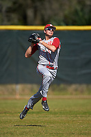 Indiana Hoosiers center fielder Craig Dedelow (39) during practice before a game against the Illinois State Redbirds on March 4, 2016 at North Charlotte Regional Park in Port Charlotte, Florida.  Indiana defeated Illinois State 14-1.  (Mike Janes/Four Seam Images)