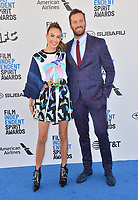 SANTA MONICA, CA. February 23, 2019: Armie Hammer &amp; Elizabeth Chambers at the 2019 Film Independent Spirit Awards.<br /> Picture: Paul Smith/Featureflash