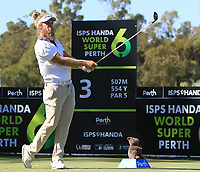 Jack Wilson (AUS) in action on the 3rd during Round 1 of the ISPS Handa World Super 6 Perth at Lake Karrinyup Country Club on the Thursday 8th February 2018.<br /> Picture:  Thos Caffrey / www.golffile.ie<br /> <br /> All photo usage must carry mandatory copyright credit (&copy; Golffile | Thos Caffrey)