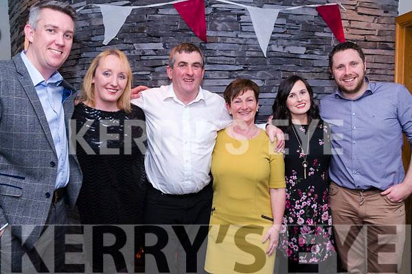 Enjoying the Cromane GAA Club Annual Social in Jacks' Restaurant in Cromane on Friday night.<br /> L-R: Jerome Griffin, Angela Sheehan, John Moss, Mary Teahan, Kelly Teahan, Tom Murphy.