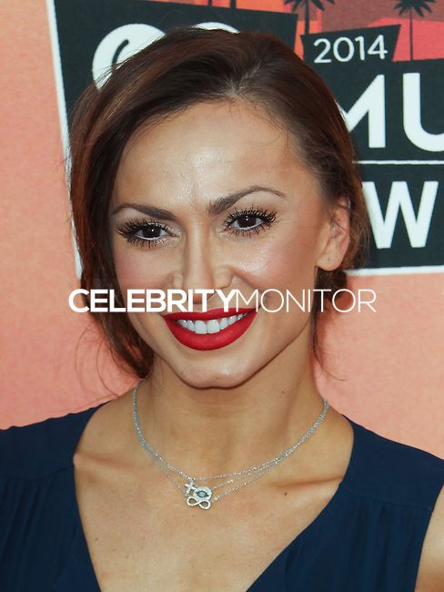 LOS ANGELES, CA, USA - MAY 01: Karina Smirnoff at the iHeartRadio Music Awards 2014 held at The Shrine Auditorium on May 1, 2014 in Los Angeles, California, United States. (Photo by Celebrity Monitor)