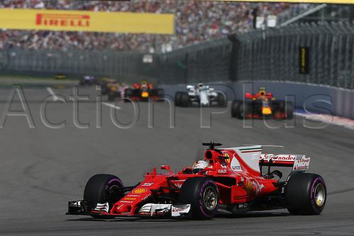 April 30th 2017, Sochi, Russia;  FIA Formula One World Championship 2017, Grand Prix of Russia, <br /> #5 Sebastian Vettel (GER, Scuderia Ferrari) comes home in 2nd