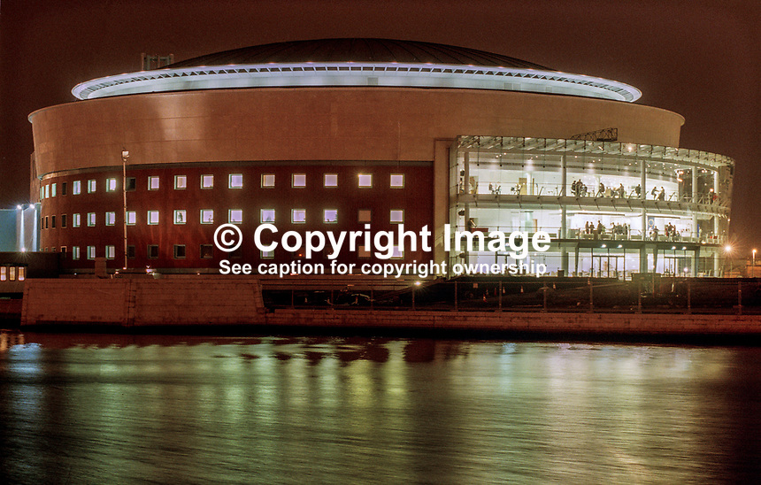 Waterfront Hall, Belfast, N Ireland, from across the River Lagan. 199911095<br />