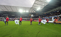 The Guard of Honours during the Barclays Premier League match between Swansea City and West Bromwich Albion played at the Liberty Stadium, Swansea on December 26 2015