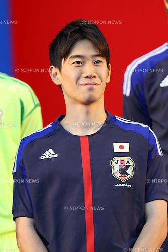 Shinji Kagawa (JPN), DECEMBER 26, 2011 - Football / Soccer : Japan National Team Official Uniform Announcement Press conference at Saitama Super Arena, Saitama, Japan. (Photo by YUTAKA/AFLO SPORT) [1040]