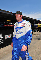 May 30, 2008; Dover, DE, USA; Nascar Sprint Cup Series driver Regan Smith during qualifying for the Best Buy 400 at the Dover International Speedway. Mandatory Credit: Mark J. Rebilas-