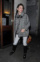 Anna Friel leaving The Vaudeville Theatre, London, UK. 07/11/2012.<br /> (Photo: BlueStar Images/OIC kap1003/NortePhoto)
